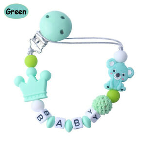 Infant Silicone Bead Cute Soother Teething For Baby Chew Dummy Pacifier Clip