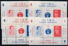 Bloc Marigny 1990 de gaulle ** dentelé et non dentelé