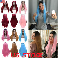 Women Long Straight Hair Wig Anime Cosplay Wigs Props Fancy Dress Costume Party