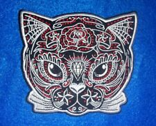 Sugar Skull Cat Face 4'' by 4.5'' Patch
