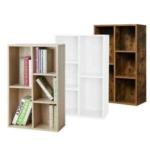 VASAGLE Bücherregal Raumteiler 5 Fächer Aktenregal Standregal 3 Farben Holz