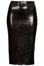 Topshop Snake Vinyl Tube Skirt - Black - Size 12 - RRP £26 - Brand New
