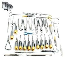 GERMAN 74 PC ORAL DENTAL SURGERY EXTRACTING ELEVATORS FORCEPS INSTRUMENT KIT SET