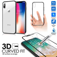 360°Protective Hybrid Case + 3D Full Coverage Tempered Glass For iPhone X 8 7 6