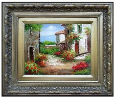 Framed Quality Hand Painted Oil Painting, Tuscany Villas Italy - 6, 8x10in
