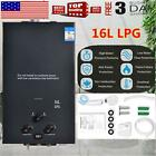 16L Hot Water Heater Propane Gas Instant Tankless Boiler Stainles LPG W/ Shower