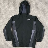 The North Face Youth Boys Hooded Hyvent Shell Zip Jacket Rain Winter Black Large