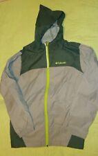 Columbia Size L(14-16) Boys Gray Full Zip Nylon Hooded Windbreaker Jacket