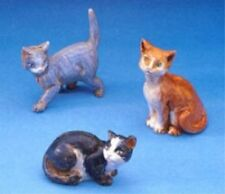 Fontanini Cats Italian Nativity Village Figurines Set of 3 New, Free Shipping