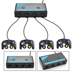 4 Port Controller Adapter Support Nintendo Switch Wii U PC USB Mac OS Gamecube