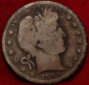 1896-S San Francisco Mint Silver Barber Half Dollar