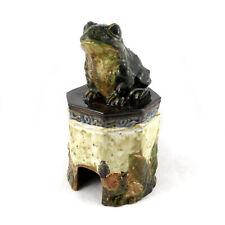 Vintage Majolica Toad House Ceramic Garden Decor Statuary