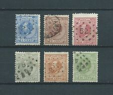 PAYS-BAS - 1872-88 YT 19 à 24 - TIMBRES OBL. / USED - COTE 41,00 €