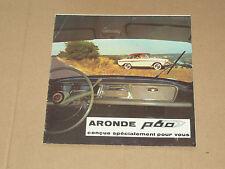 beau dépliant SIMCA ARONDE P60,  catalogue, prospekt, brochure