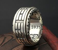 Solid 925 Sterling Silver men's Tai Chi Bagua Vintage  Ring us size 6-12 S2297