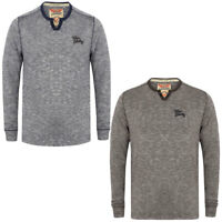 New Mens Tokyo Laundry Branded Pro Contrast Crew Neck Long Sleeve Top Size S-XL