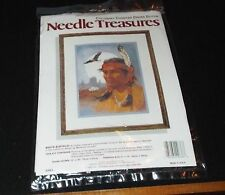 White Buffalo Needle Treasures Colorart Counted Cross Stitch Kit  # 02636