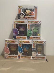Funko Pop! Dragon Ball Z/Dragon Ball Super Bundle x6 Goku, Hit, SDCC Dead Yamcha