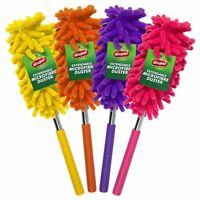 4x LONG TELESCOPIC EXTENDABLE MICROFIBRE CLEANING FEATHER DUSTER EXTENDING MAGIC