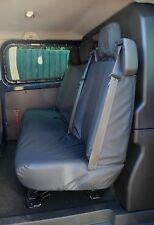Ford Transit Custom 2013+ Double Cab In Van DCIV Tailored Rear Seat Cover Black