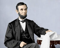 Abraham Lincoln Photo 8X10 - President Abe #9 COLORIZED  Buy Any 2 Get 1 FREE