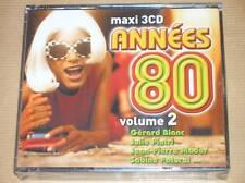 RARE BOITIER 3 CD / ANNEES 80 VOL 2 / NEUF SOUS CELLO