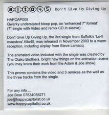 (AD268)  Alto45, Don't Give Up Giving Gp - DJ CD