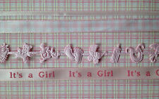 Lot Baby Girl pink Ribbon babies Announcements Scrapbook girls shower Favors