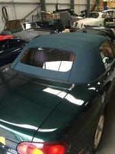 Mazda Mx5 MK2 Soft Top Green Mohair Hood with Glass Window