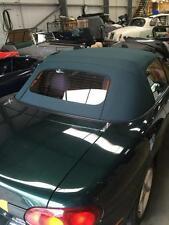 MAZDA Mx5 MK2 SOFT TOP VERDE Mohair Cappuccio con finestra di vetro