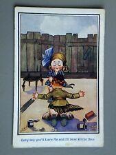 R&L Postcard: Children's Ludgate Comic, Windy Day Kilt Boy Scottish Humour