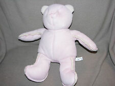 BABY GAP PINK FAUX SUEDE SHERPA SHEARLING BRANNAN TEDDY BEAR STUFFED PLUSH TOY