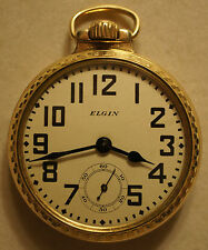 Vintage 1925 Elgin B.W. Raymond Railroad Pocket Watch 16s 21J Grade 478 Model 15