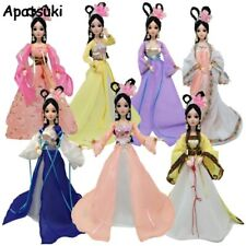 Multi-color Cosplay Dress For Barbie Chinese Ancient Beauty Costume Clothes 1/6
