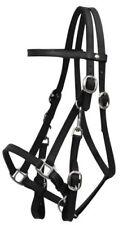 BLACK Leather Combination Halter Bridle w/ 7' Split Reins!!! NEW HORSE TACK!!!