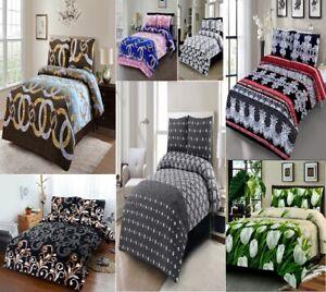 Luxuries Designer 3D Printed FLAT SHEET + 2 x Pillow Case Bedding Set King Size