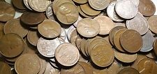 Roll of 50 1940' & 1950's US Wheat Pennies Lincoln Wheatback Cent Antique Money
