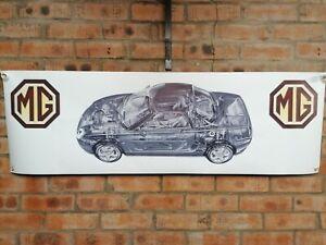 MG F TF    1  large pvc  WORK SHOP BANNER garage   SHOW banner