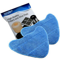 2-Pack HQRP Microfiber Steam Mop Pads fits Hoover Steamer, WH01000 Replacement