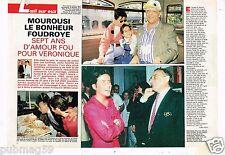 Coupure de Presse Clipping 1992 (6 pages) Yves Mourousi bonheur foudroyé