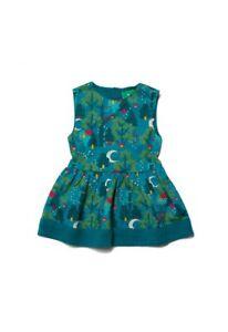 Little Green Radicals Organic Midnight Jungle Gathered Dress 6 9 12 m  1 2 yrs