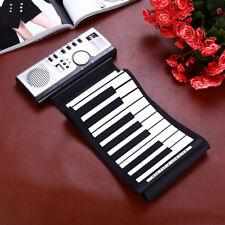 Flexible Portable 61 Keys Silicone Soft MIDI Digital Roll-up Keyboard Piano CH