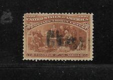 Us Scott #239 used 30c orange brown Columbian Expo issue 1893 light cancel fine