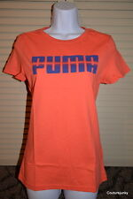 Puma Women's Graphic T-Shirt Hot Coral.100% Cotton - MSRP $22.00.  Small