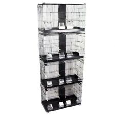 Black Double Wire Breeding Cage For Birds Finch Canary Budgie Stackable SALE