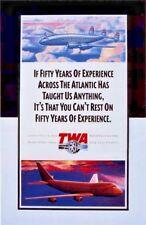 Vintage Transatlantic Airways Travel Poster