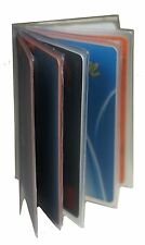 5 Plastic Wallet Insert Replacement Picture Card Holder Trifold 6 Pg MADE IN USA