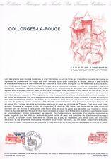 Document Officiel   1982 28   Collonges La Rouge  Yv N° 2196