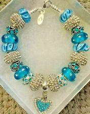 Authentic Pandora I Love My Cat Crystal European Bracelet Free Shipping!