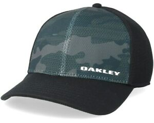 Oakley Men's Silicone Bark Trucker Print 2.0 Cap O Hydrolix fabric-Black- Cool!